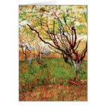Huerta de Van Gogh en el flor, impresionismo del v Felicitación