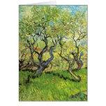 Huerta de Van Gogh en el flor, impresionismo del v Felicitacion