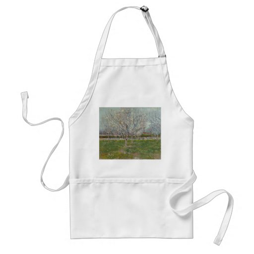 Huerta en árboles de ciruelo del flor de Vincent Delantal