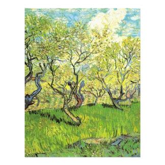 Huerta en el flor, Vincent van Gogh. Membrete