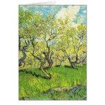 Huerta en el flor Vincent van Gogh Tarjeton