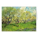 Huerta en flor de Vincent van Gogh Felicitación