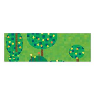 huerta o jardín de la fruta cítrica tarjetas de visita mini