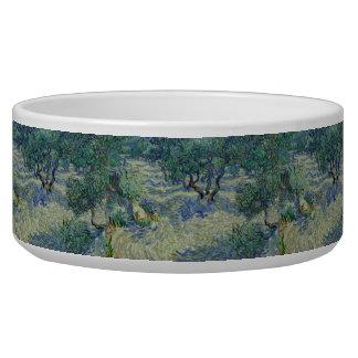 Huerta verde oliva de Vincent van Gogh