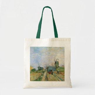 Huerto de Van Gogh en Montmartre, bella arte Bolsa Tela Barata