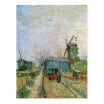 Huerto de Van Gogh en Montmartre, bella arte Postal