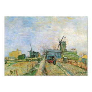 Huerto de Van Gogh en Montmartre Invitación 12,7 X 17,8 Cm