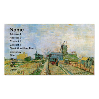 Huerto de Van Gogh en Montmartre Tarjetas De Visita