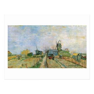 Huerto en bella arte de Montmartre Van Gogh Postal