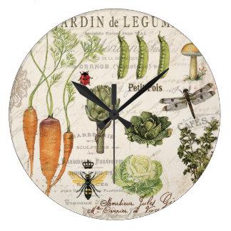 huerto moderno del francés del vintage reloj de pared