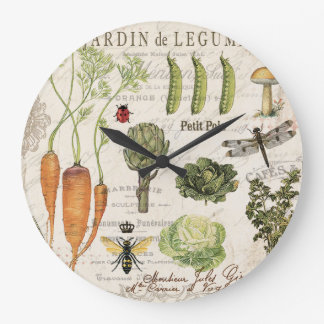 huerto moderno del francés del vintage reloj redondo grande