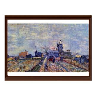 Huertos y el Moulin De Sangre-Aleta Tarjetas Postales