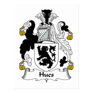 Hues Family Crest Postcard
