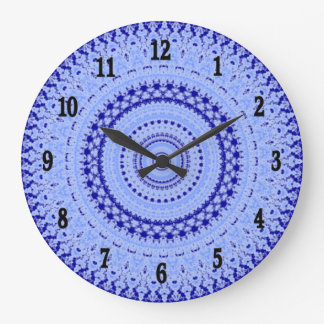 Hues of Blue Country Kitchen Wall Clock