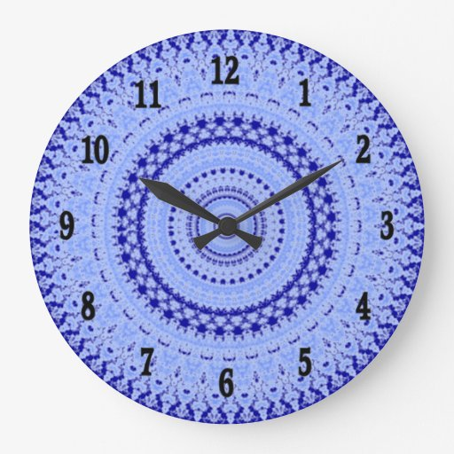 hues of blue country kitchen wall clock zazzle