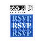 Hues of Blue RSVP Modern Wedding W09 Postage Stamps