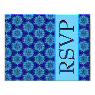 Hues of Blue Stars Modern Wedding RSVP Card