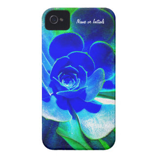 Hues of Blues - Funky Flower Petals iPhone 4 Case-Mate Case