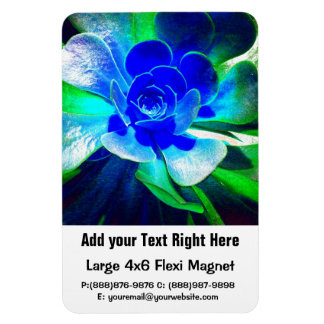 Hues of Blues - Funky Flower Petals Magnet