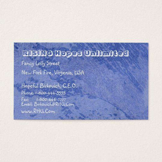 Hues of Blues  : Nature Wonders Graphics Business Card