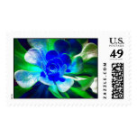 Hues of Blues Postage Stamps