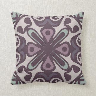 Hues of Purple & Green Pattern Pillow