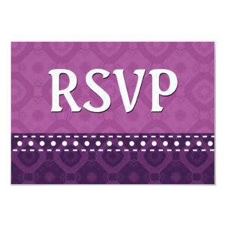 Hues of Purple RSVP Stitches Polka Dots V10U Card