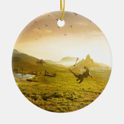 Hueso abstracto Dino de la captura de la fantasía Adorno Redondo De Cerámica