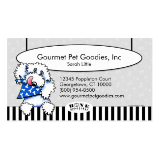 ¡Hueso Appetit de las comidas de mascota del Tarjetas De Visita