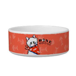 ¡Hueso Appetit del gato Pequeño tomate de los hue Tazón Para Agua Para Gatos