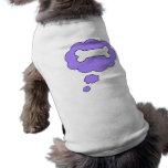 hueso camiseta de mascota