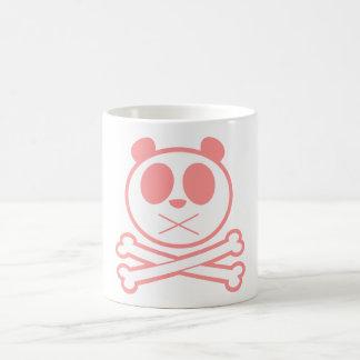 Hueso cruzado de la panda - rosa taza