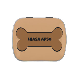 Hueso de perro de Lasa Apso Frascos De Caramelos