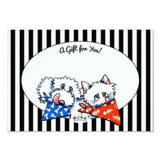 """¡Hueso de perro del gato Appetit! Tarjetas del Invitación 3.5"""" X 5"""""""