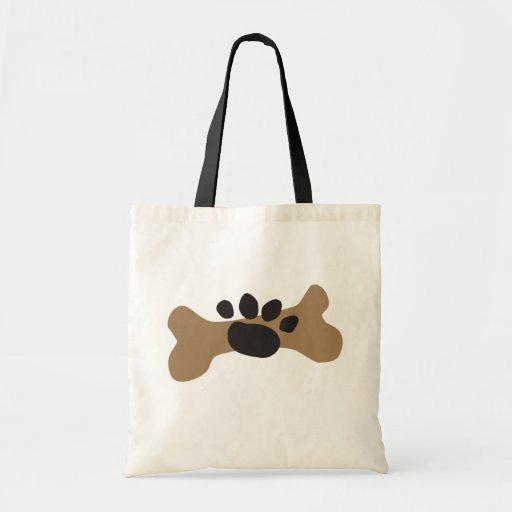Hueso de perro y impresión de la pata bolsas