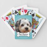 Hueso de perro y marco azul de la foto del mascota barajas