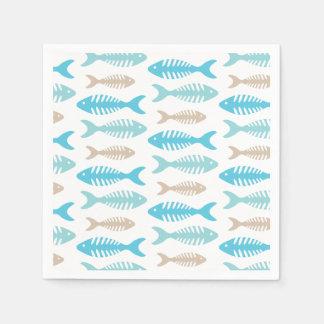 Hueso de pescados servilleta desechable