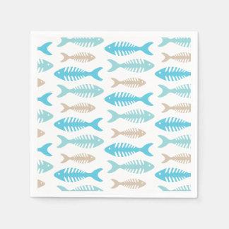 Hueso de pescados servilletas de papel