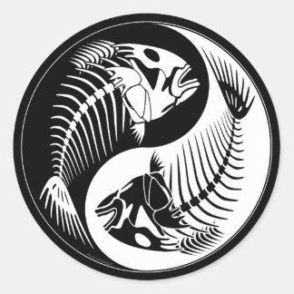 Hueso de pescados Yang Etiqueta Redonda