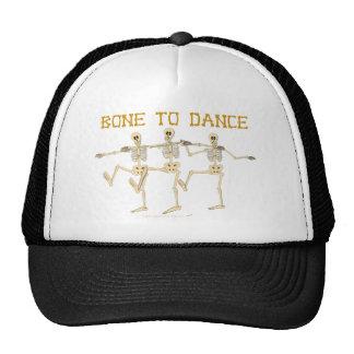 Hueso divertido de los esqueletos del baile para b gorras