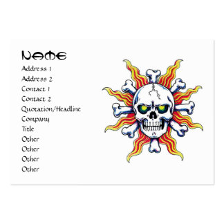 Hueso fresco del sol del cráneo del símbolo del ta tarjetas de visita grandes
