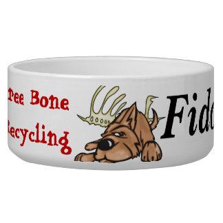 Hueso libre que recicla los cuencos del perro tazón para perro