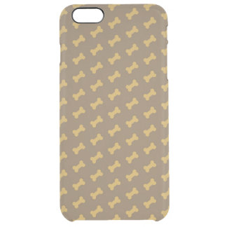hueso para la textura del perro funda clearly™ deflector para iPhone 6 plus de unc