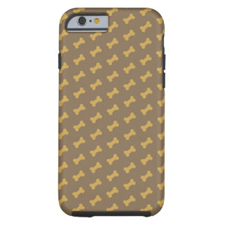 hueso para la textura del perro funda de iPhone 6 tough
