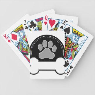 Hueso y pata de perro cartas de juego
