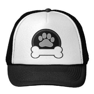 Hueso y pata de perro gorras de camionero