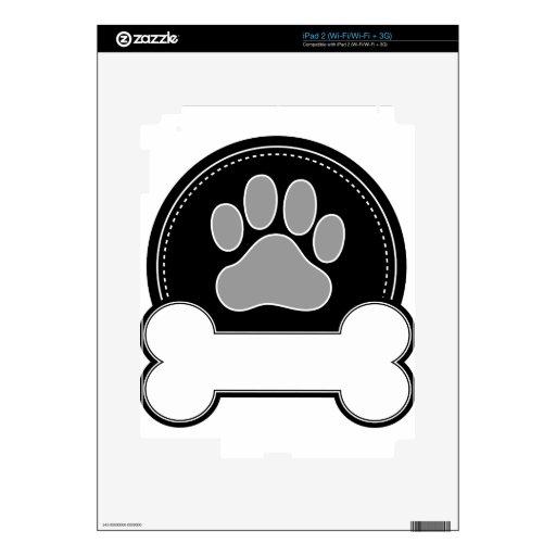 Hueso y pata de perro skins para iPad 2