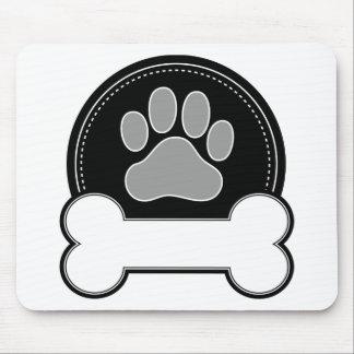 Hueso y pata de perro tapete de ratón