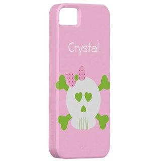 Huesos 4 del cráneo y de la cruz iPhone 5 Case-Mate protector