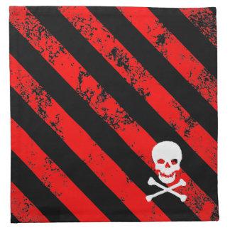 Huesos agrietados del cráneo del punk/de Anarquist Servilleta